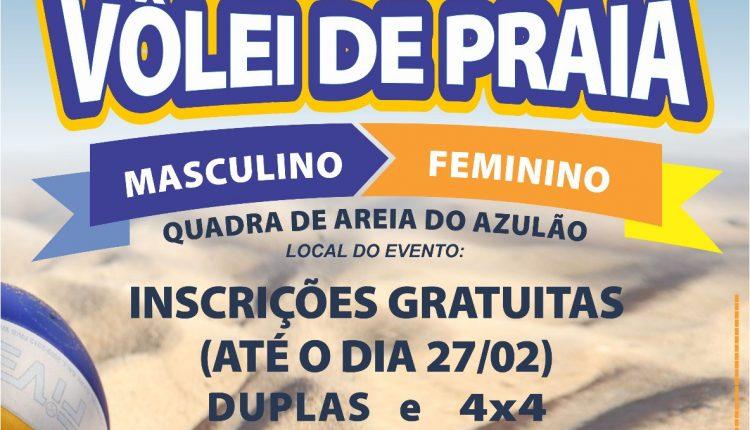 INSCRIÇÕES ABERTAS PARA CAMPEONATO DE VÔLEI DE PRAIA EM JAGUARIÚNA