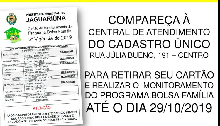 ATENÇÃO BENEFICIÁRIOS DO BOLSA FAMÍLIA