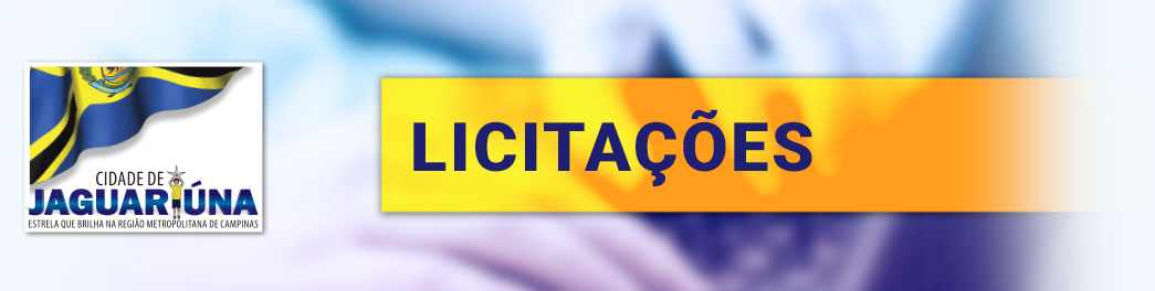 Licitações – Prefeitura do Município de Jaguariúna
